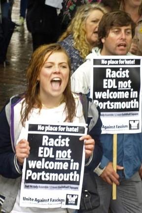 Anti-EDL demo Portsmouth