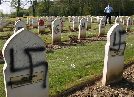 Arras cemetery desecrated (2)