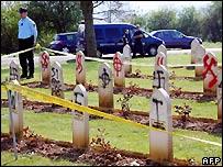 Arras cemetery desecrated