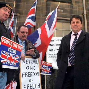 BNP Burnley protest