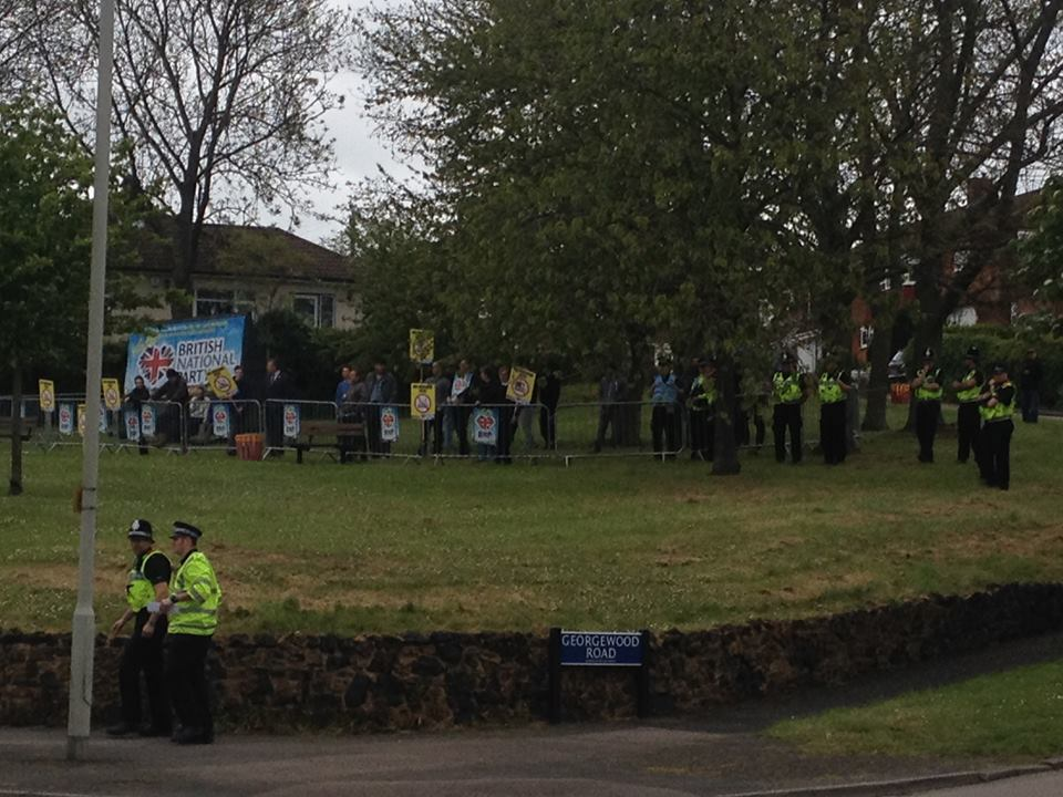BNP anti-mosque demonstration Hemel Hempsted
