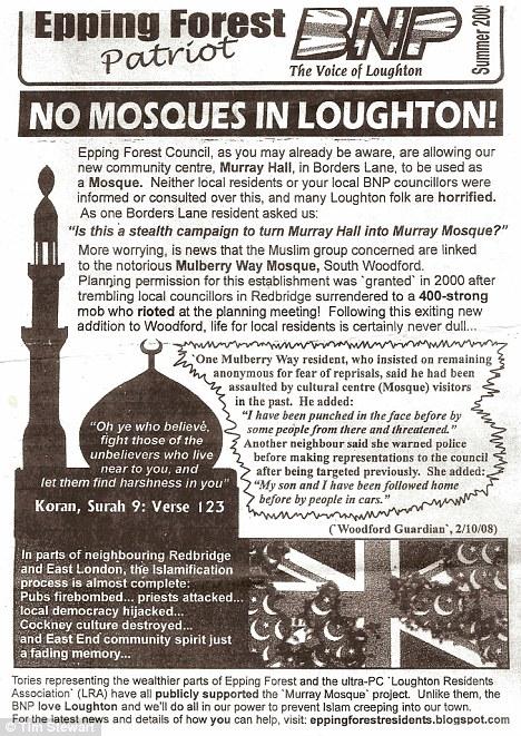 BNP leaflet Loughton