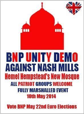 BNP 'unity demo' Hemel Hempstead