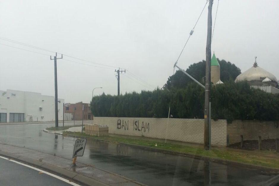 Ban Islam graffiti