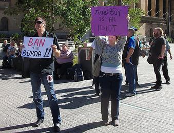 Ban the burqa idiot