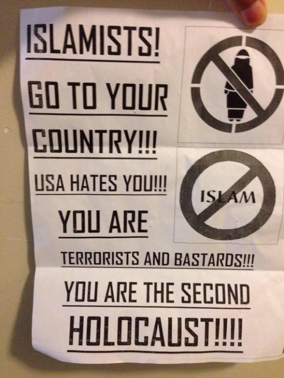 Bath Beach anti-Muslim flier