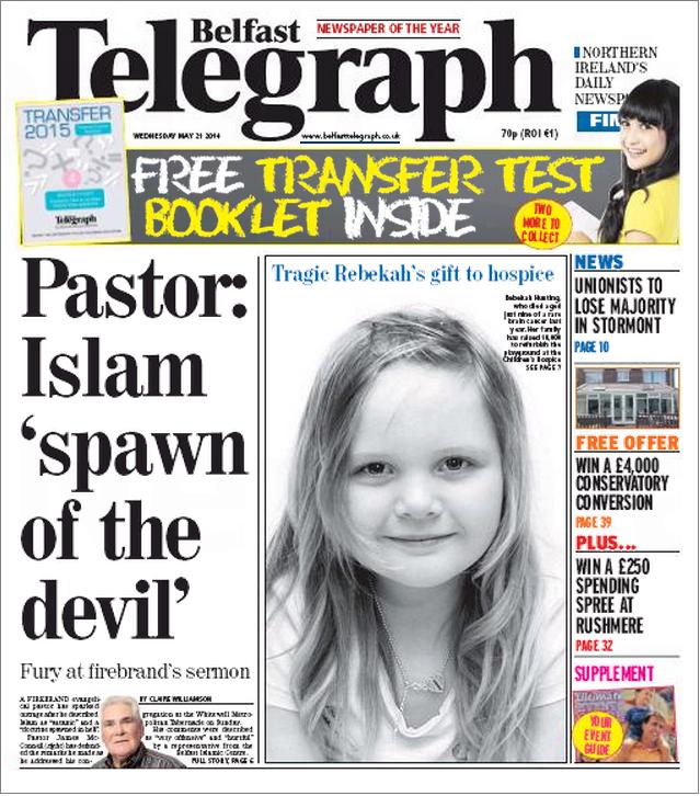 Belfast Telegraph Islam spawn of devil