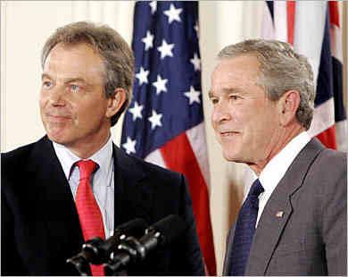 Blair with Bush