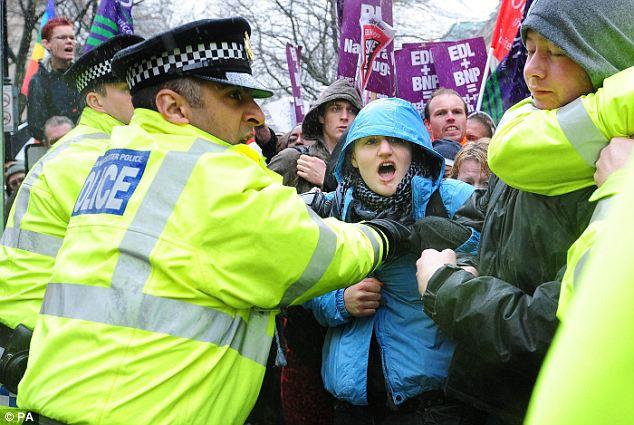 Bolton anti-EDL protest