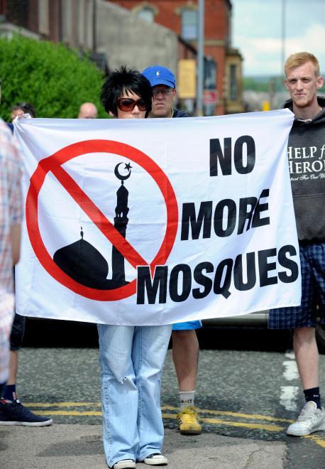Bolton anti-mosque protest June 2014