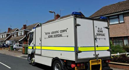 Bomb squad outside Ian Forman's home
