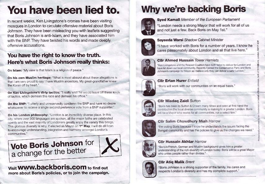 Boris Islam leaflet
