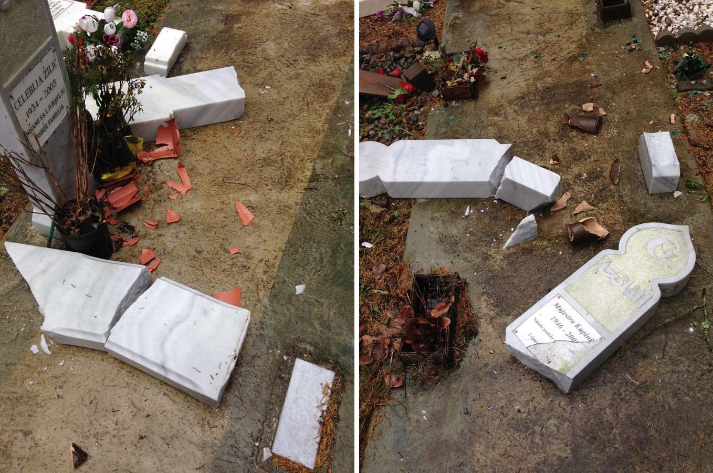 Bosnian graves vandalised