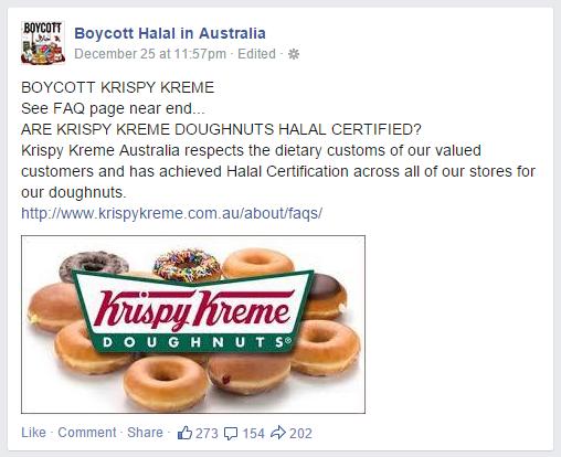 Boycott Krispy Kreme doughnuts