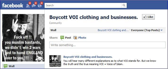 Boycott VOI Facebook page