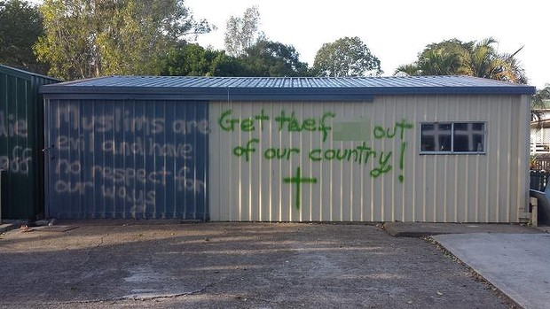 Brisbane mosque graffiti (4)