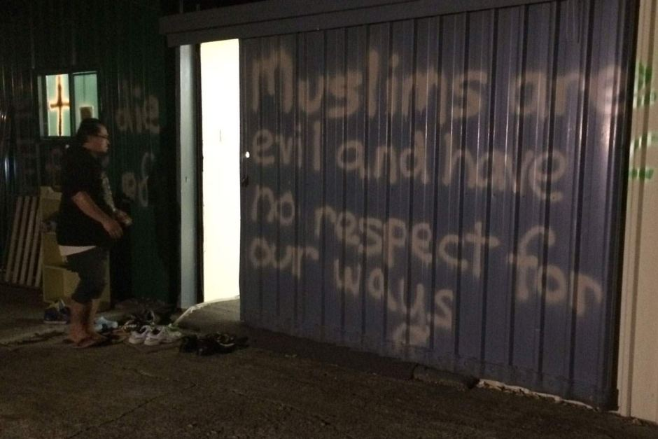 Brisbane mosque graffiti