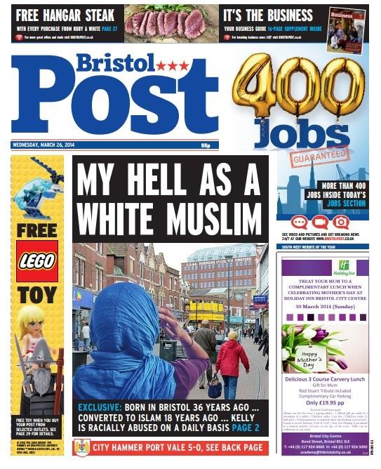 Bristol Post My Hell front page