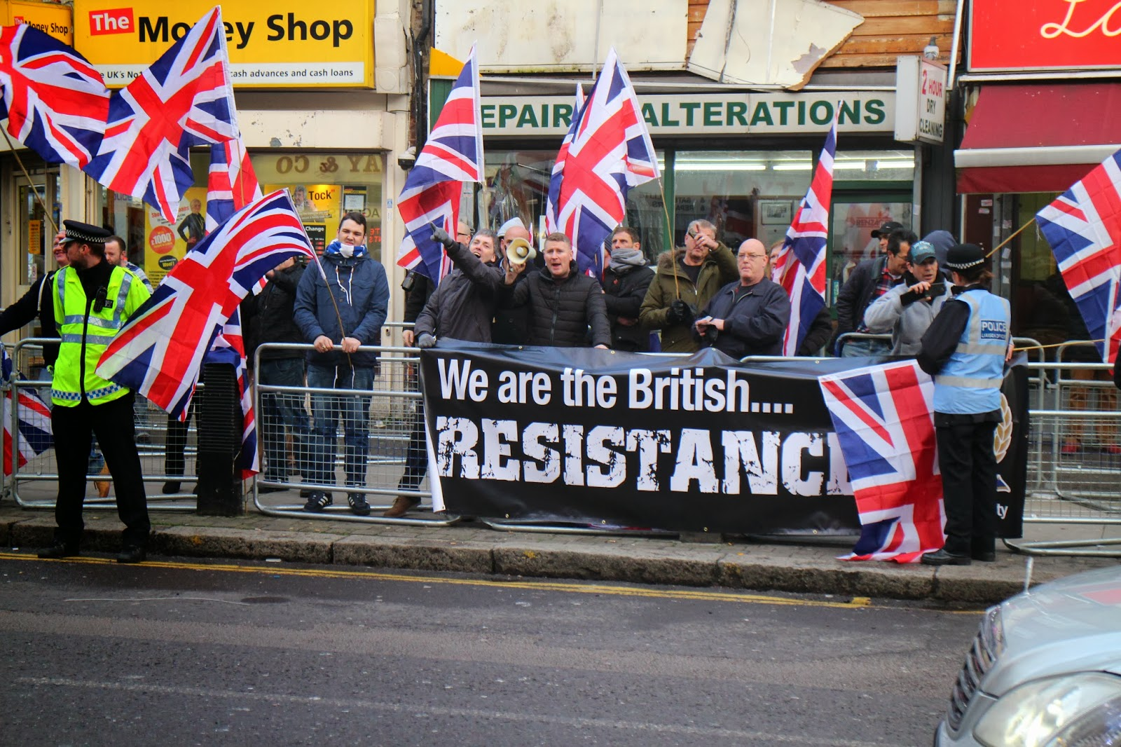 Britain First Cricklewood protest