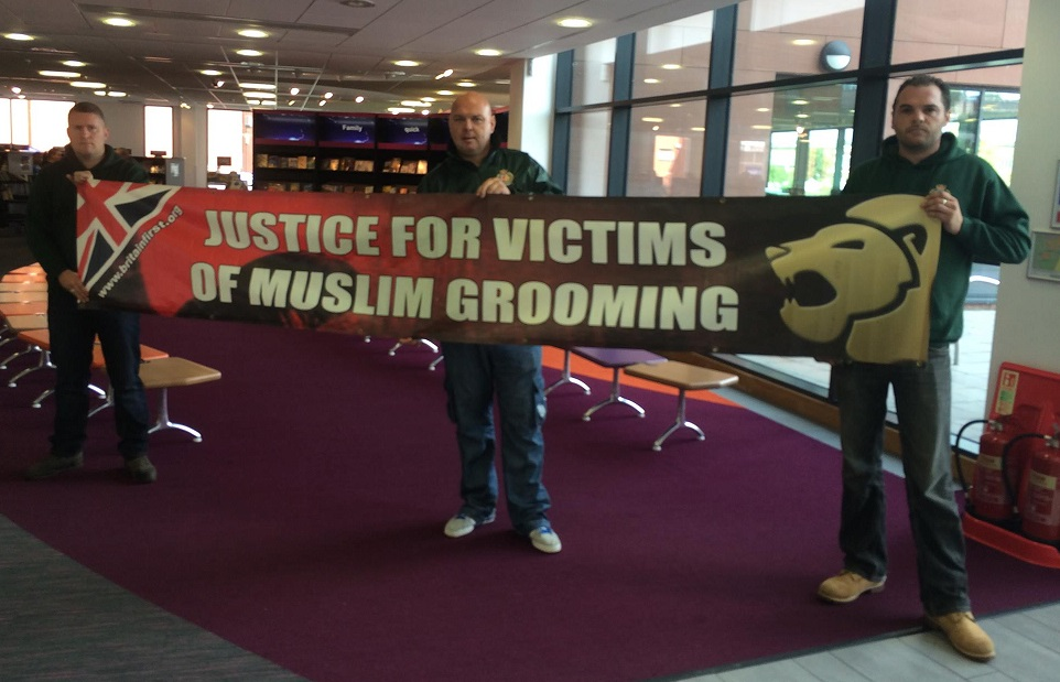Britain First Rotherham protest