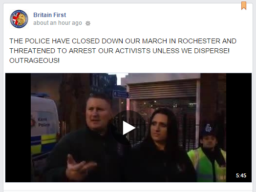 Britain First whingeing