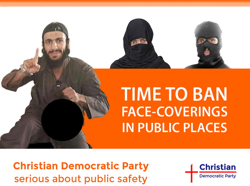 CDP ban face-coverings