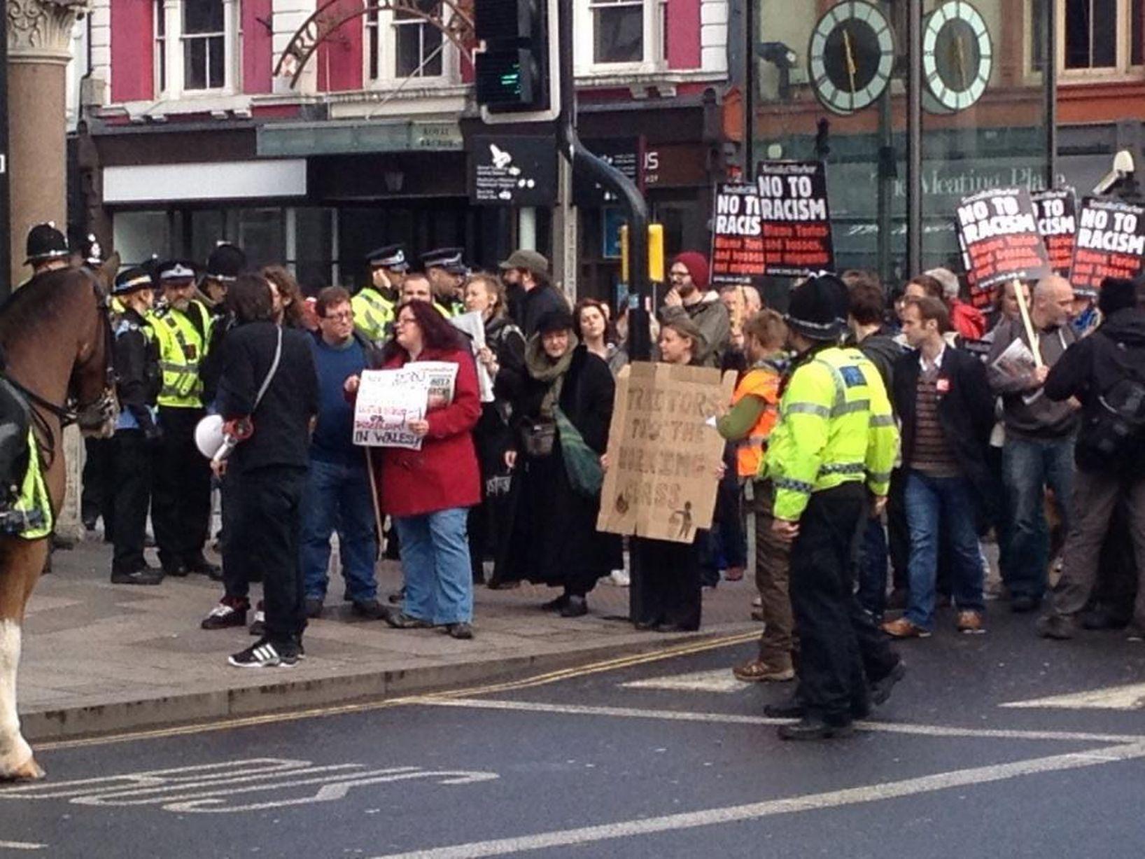 Cardiff anti-fascist protest