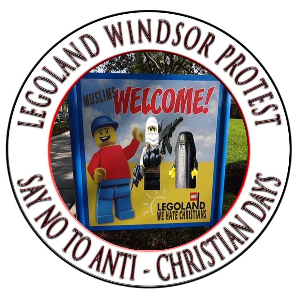 Casuals United Legoland protest ad