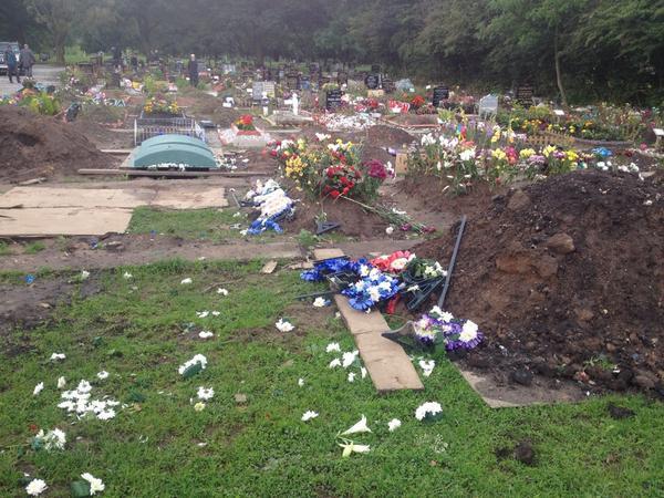 Chadderton cemetery vandalism