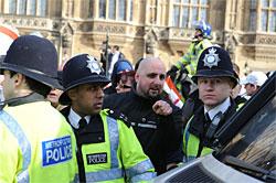 Chris Renton at EDL protest