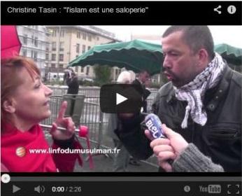 Christine Tasin l'islam est une saloperie