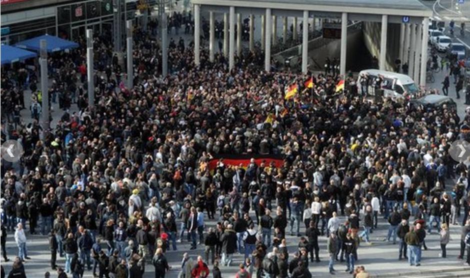 Cologne far-right protest