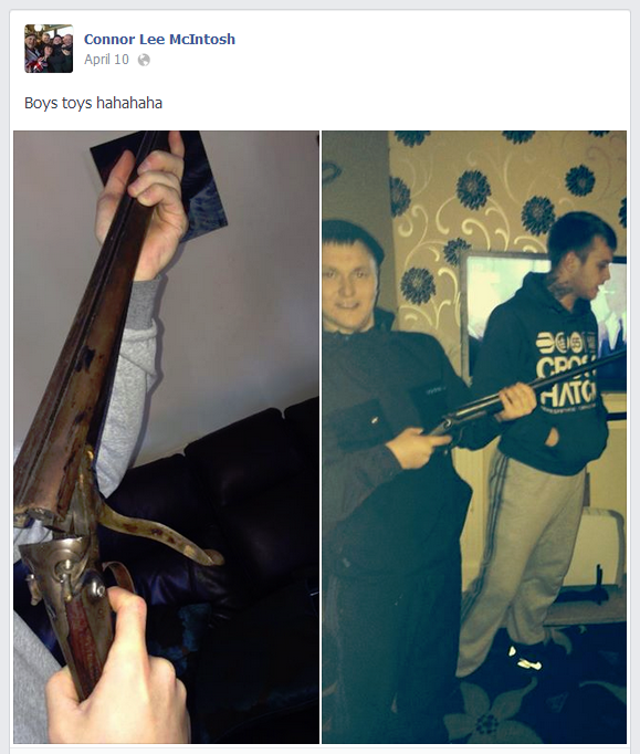 Connor McIntosh with gun