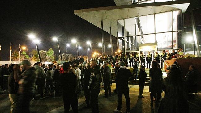 Coolaroo mosque protestors