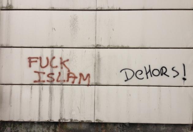 Crépy-en-Valois mosque graffiti