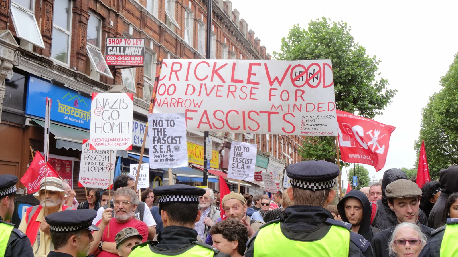 Cricklewood anti-SEA protest