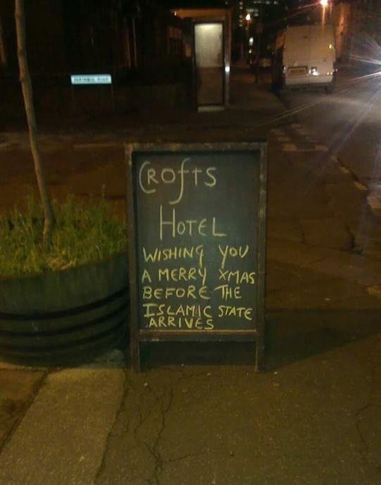 Crofts pub Islamic State