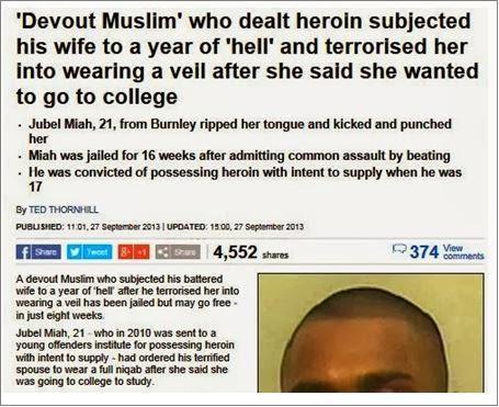 Daily Mail devout Muslim headline