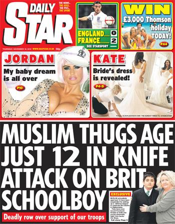 Daily Star Muslim Thugs
