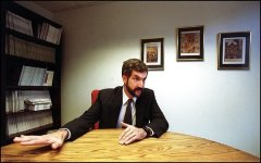 Daniel Pipes and hand