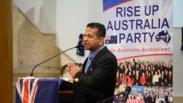 Danny Nalliah at campaign launch