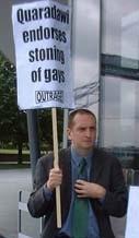 Darren Johnson outside City Hall