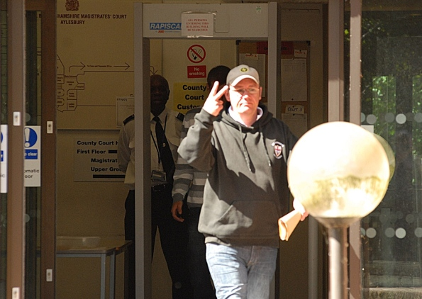 Daryl Hobson leaves court