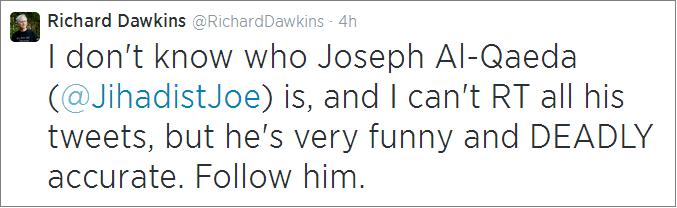 Dawkins recommends JihadistJoe