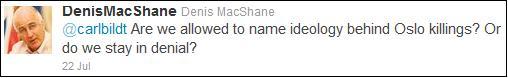 Denis MacShane Norway tweet