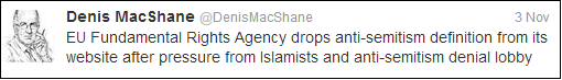 Denis MacShane discovers Islamist plot