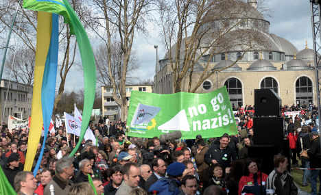Duisburg anti-fascist demonstration