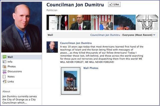 Dumitru 9-11 Facebook comment
