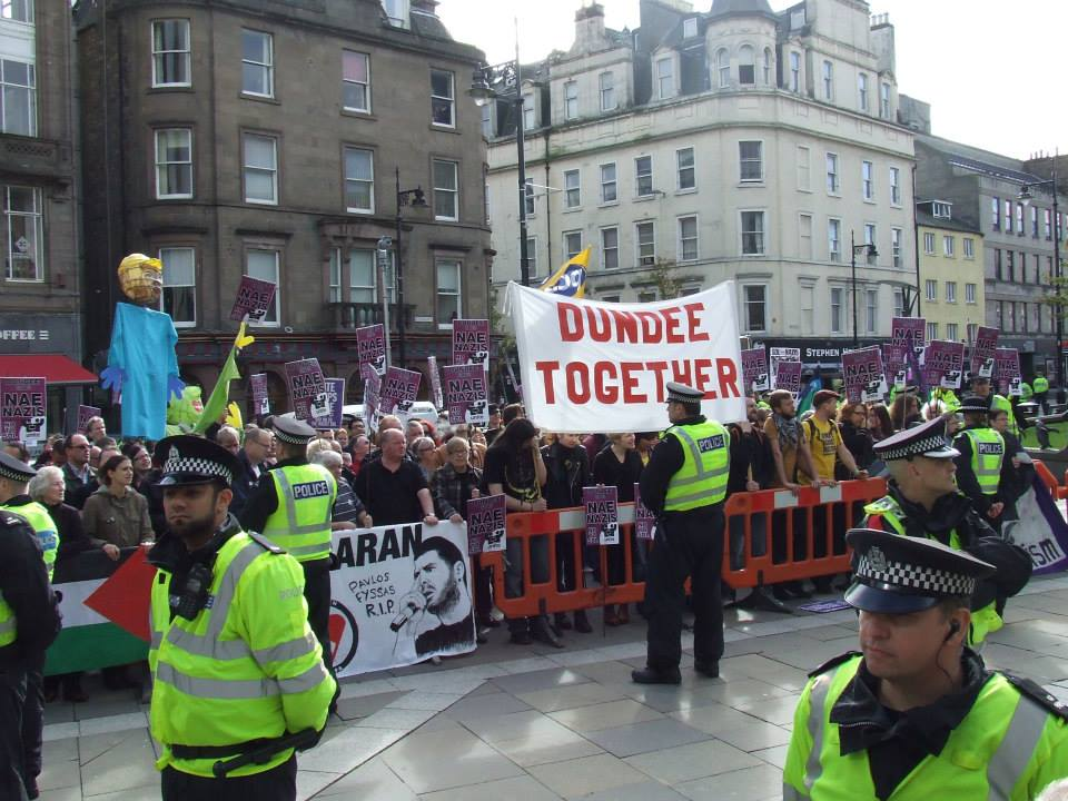 Dundee Together anti-SDL protest 2013