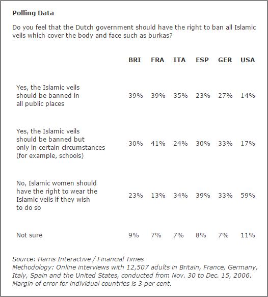 Dutch veil ban poll